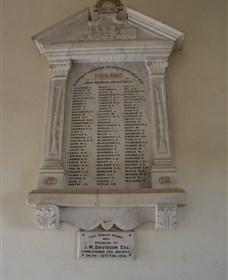 Warwick Railway Memorial Honour Board - Accommodation Directory