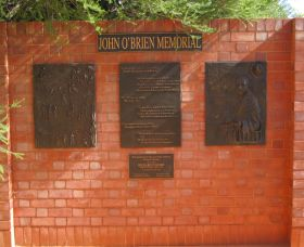 John OBrien Commemorative Wall - Accommodation Directory