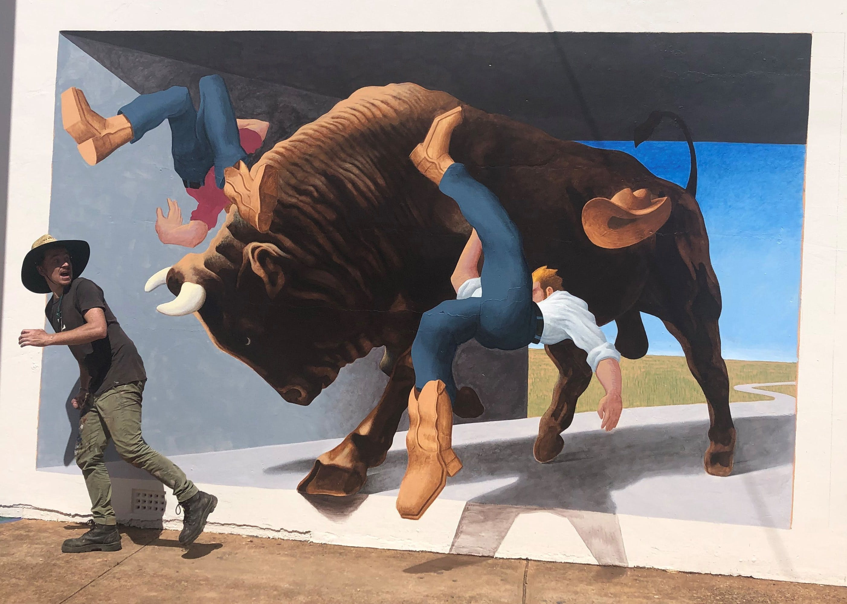 Big Bull Mural - Accommodation Directory