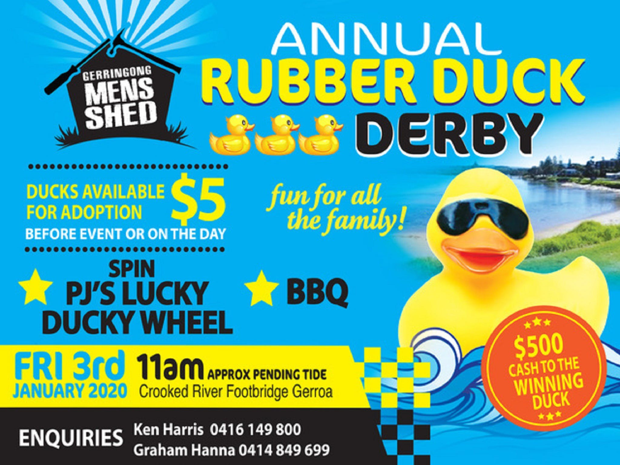 Gerringong Mens Shed Annual Duck Derby - Accommodation Directory